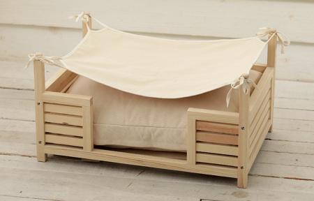 ハンモック付きウッドベッド